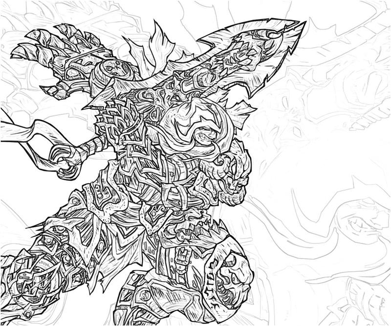 Printable Darksiders War Coloring Pages title=