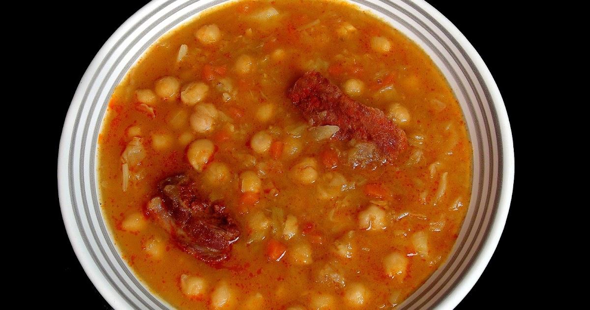 Cocinar para los amigos garbanzos con costilla adobada - Garbanzos con costillas ...