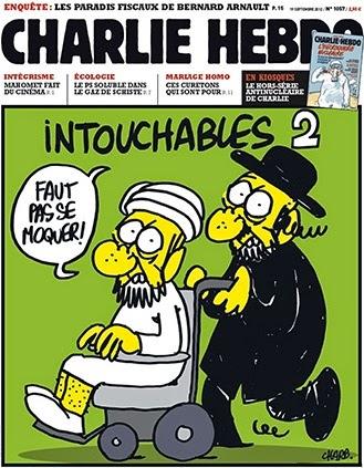 Charlie Hebdo cover, 2012.