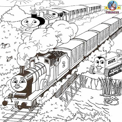 Art worksheets for printing out railway station pictures Thomas tank scenery cartoons to coloring in