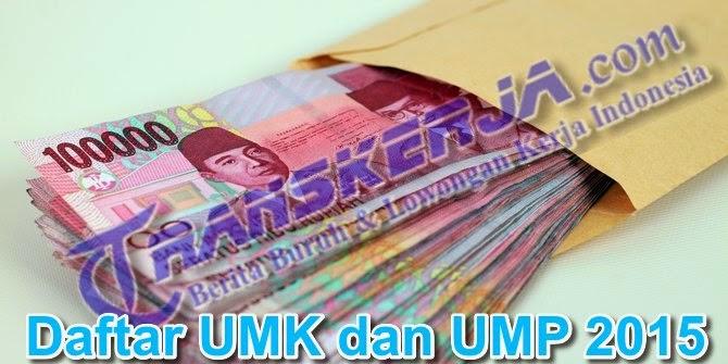 Daftar Upah Minimum Kabupaten/Kota dan Upah Minimum Provinsi (UMK dan UMP) 2015 wilayah jawa tengah, jawa barat, jawa timur, Jakarta dan seluruh wilayah Indonesia