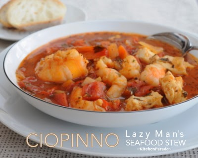 Lazy Man's Ciopinno, a simple but celebration-worthy stew packed with fresh fish and fresh shrimp in a light tomato-y broth.