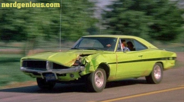 Classic muscle cars in driving movies