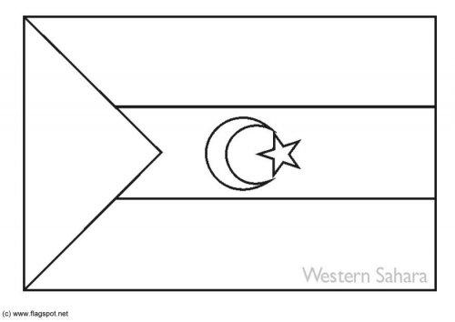 LAMINAS PARA COLOREAR - COLORING PAGES: Mapa y Bandera de Sahara ...