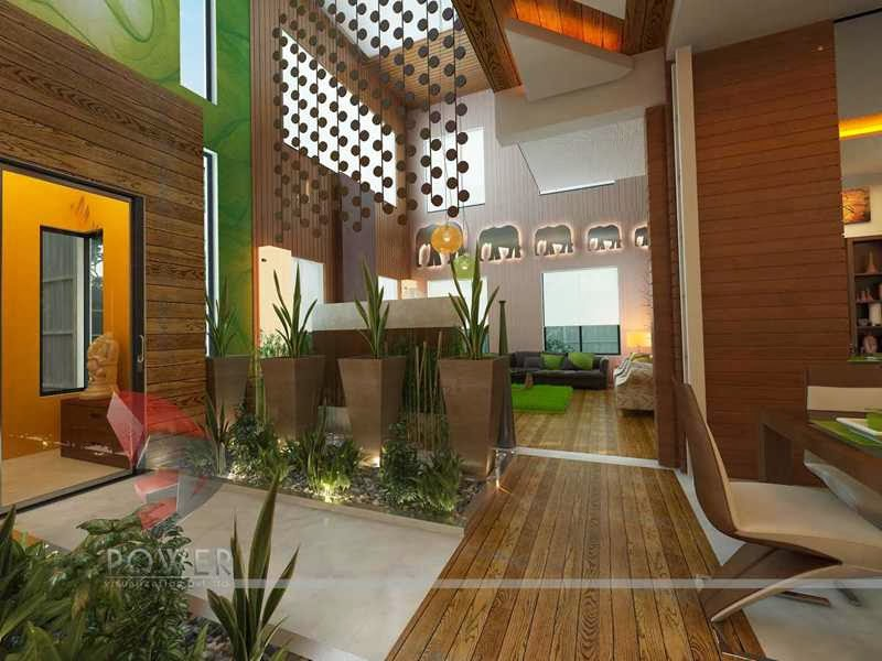 House 3d interior exterior design rendering modern home Bungalow interior design photos