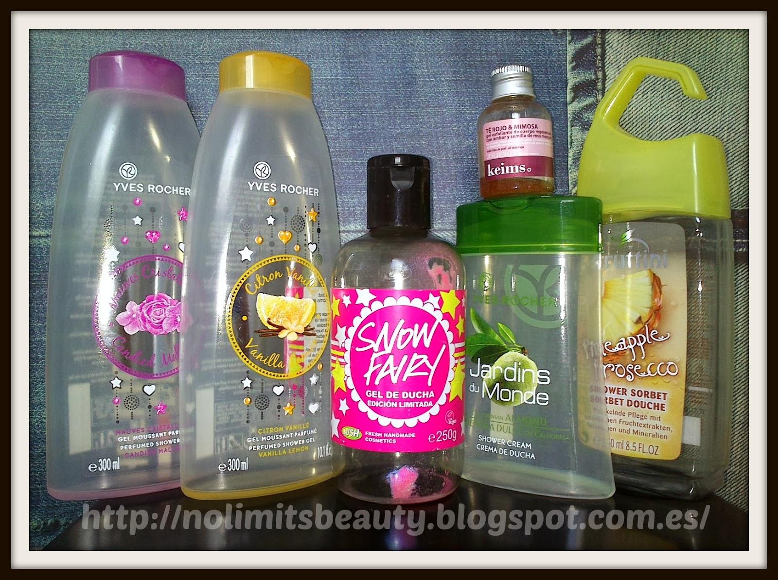 Productos terminados (vol.9): especial geles de ducha