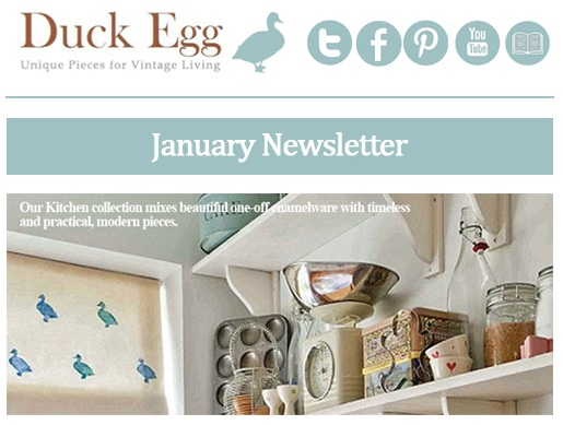 Duck Egg Designs January Newsletter