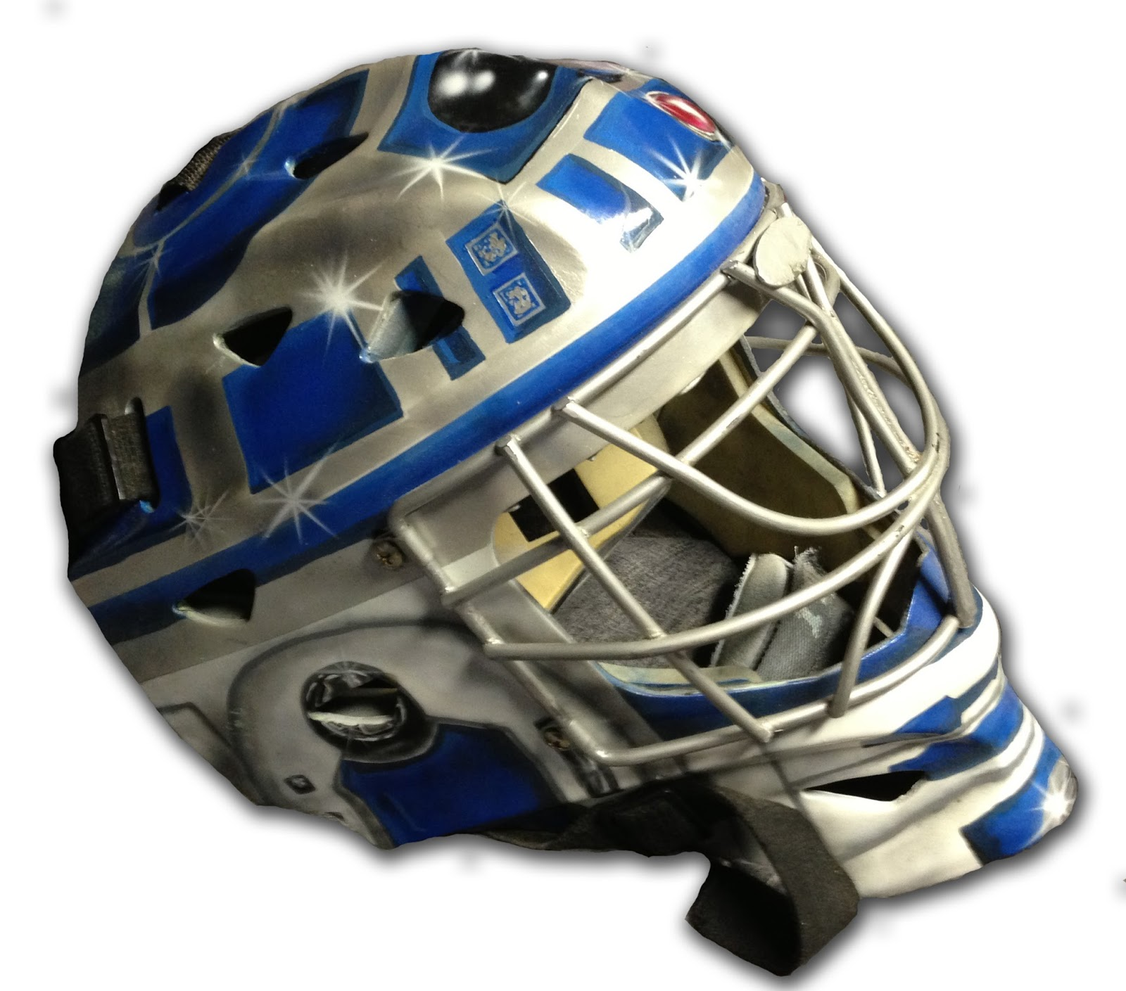 Hockey in art r2 d2 star wars goalie mask r2 d2 star wars goalie mask maxwellsz