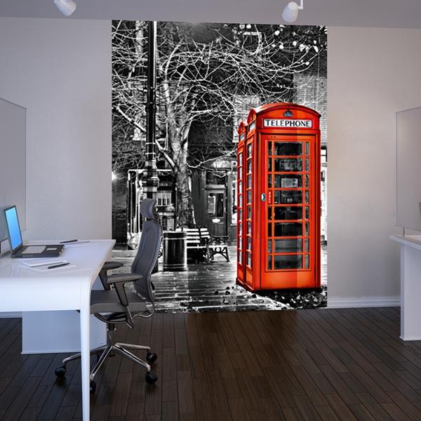 Cabinas De Baño Decoradas: – Cabina Telefónica Decorado las paredes de unas oficias, despacho