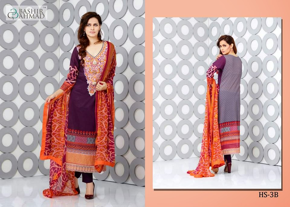 Bashir ahmed lawn summer collection 2015