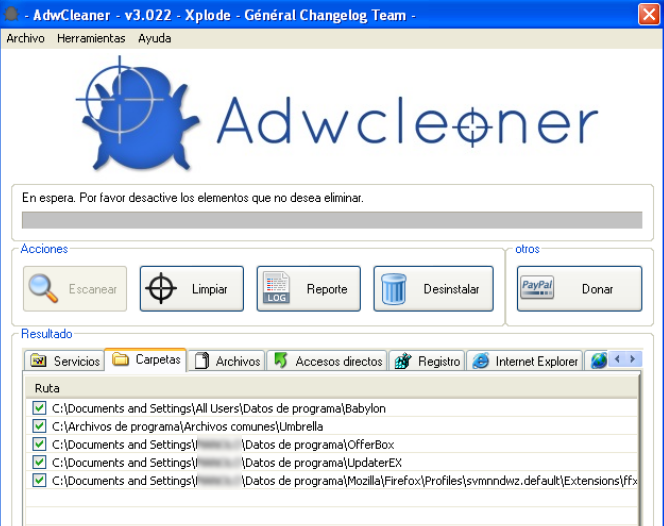 adwcleaner escanear
