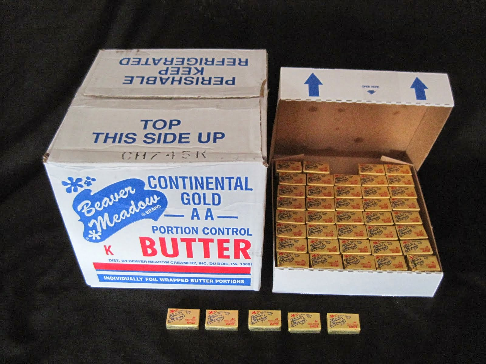 Continental Butter Chips 17 lb 800 ct - Item # 17450