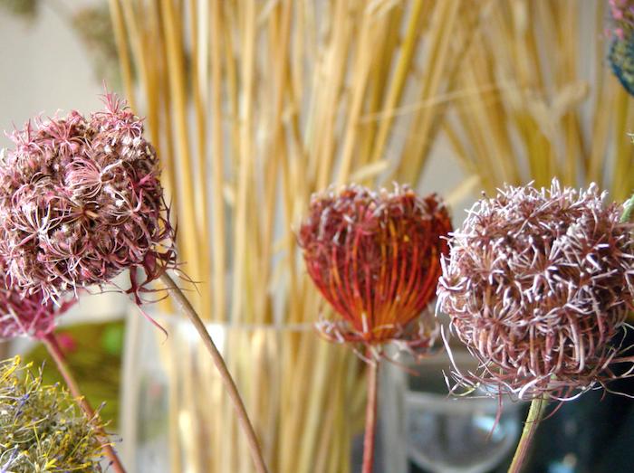fiori secchi dipinti a mano