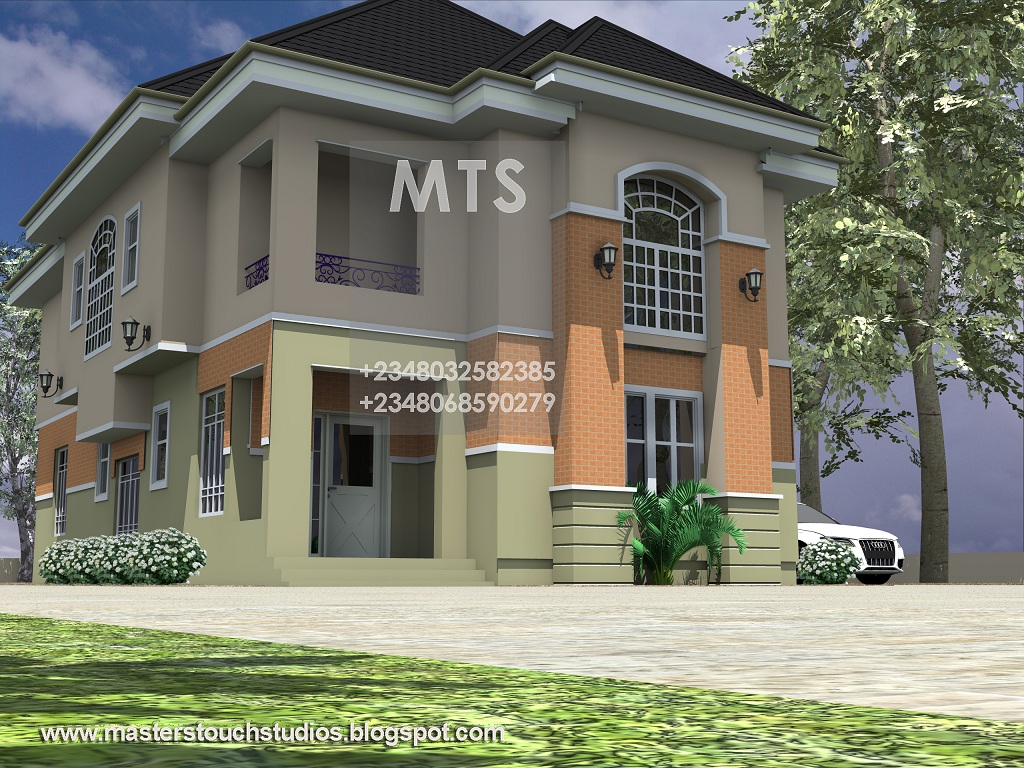Residential Homes and Public Designs: Mrs Ifeoma 4 Bedroom Duplex
