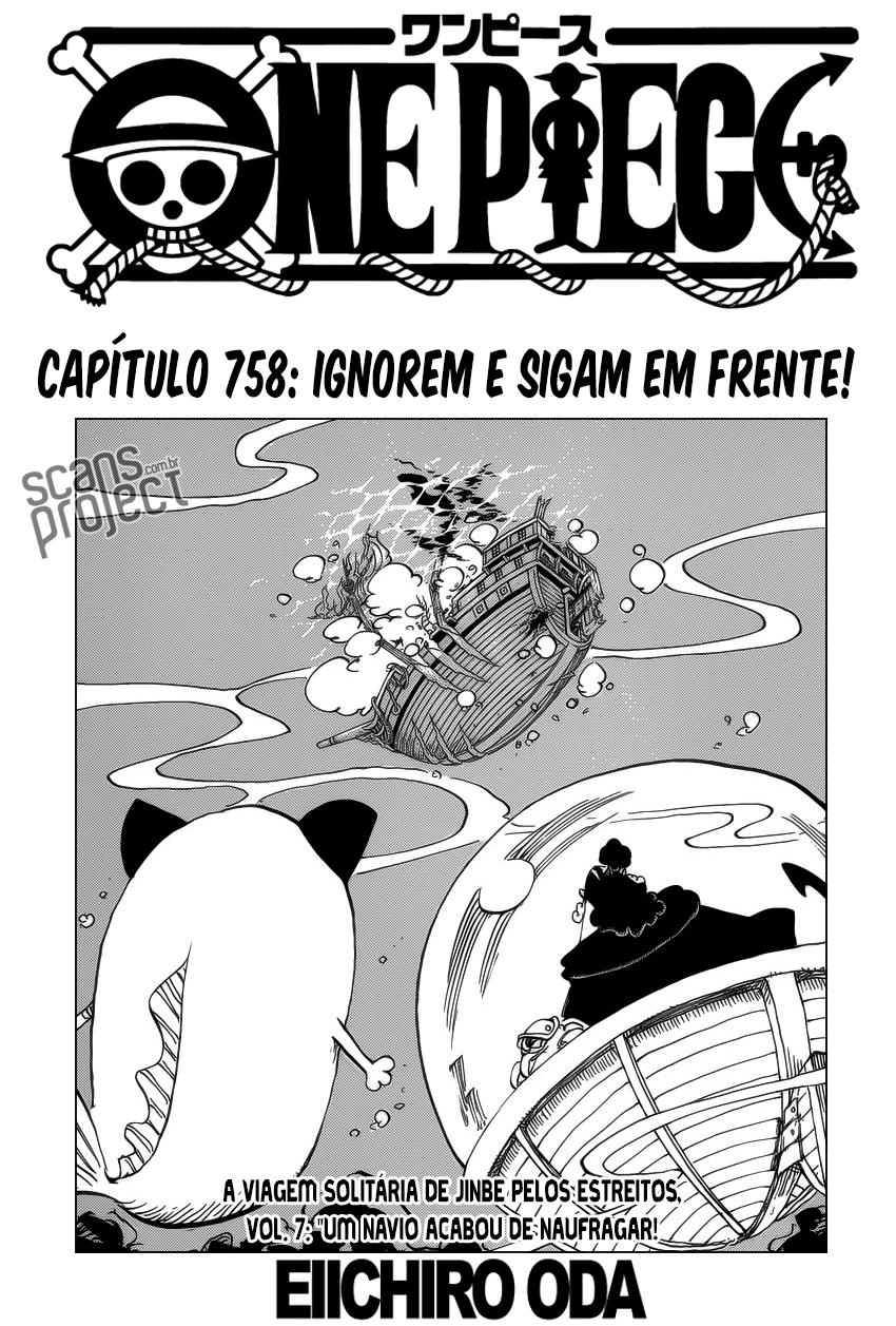 One Piece 758 Mangá Português leitura online