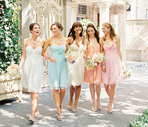 Dress To Surprise: Trendy Pastel Colored Bridesmaid Dresses