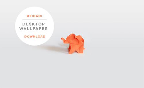 Origami Elephant Desktop Wallpaper