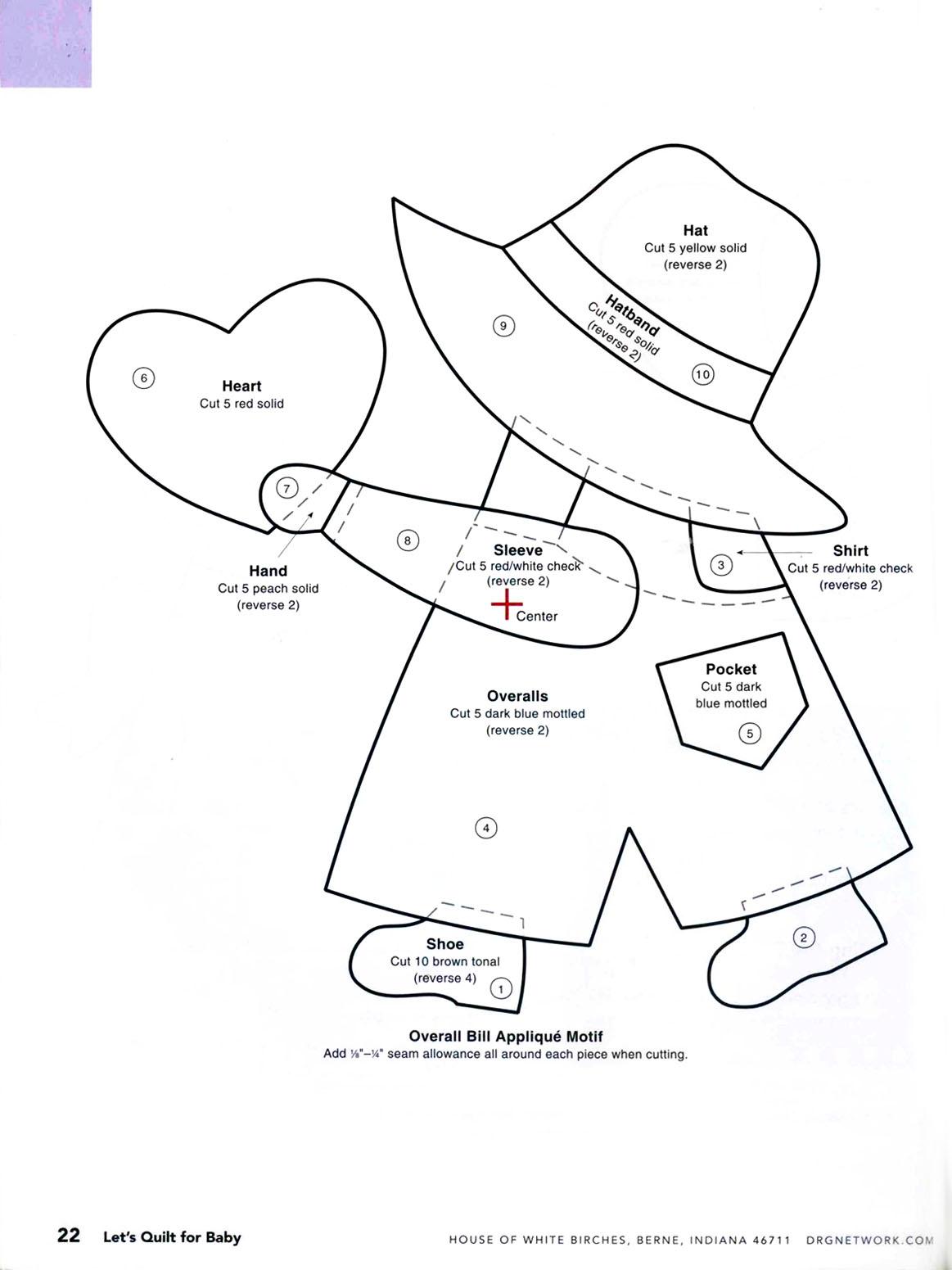 Пэчворк схемы шаблоны и выкройки