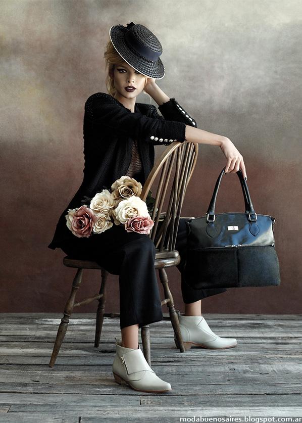 Moda otoño invierno 2014 zapatos, botas y carteras. Blaque otoño invierno 2014.