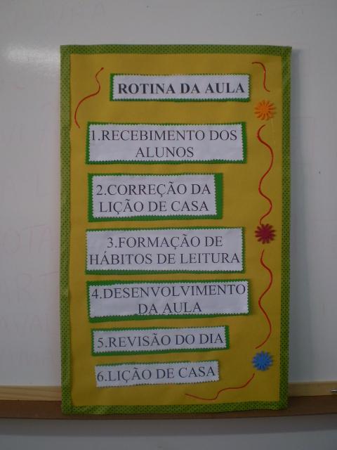 rotina da sala de aula