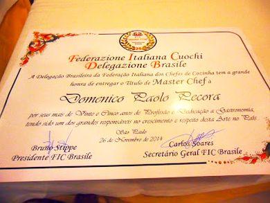 Titolo di Master Chef della Cucina Italiana in Brasile
