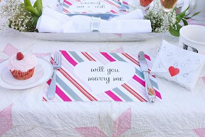 Semplicemente Perfetto cuori rosso picnic san valentino