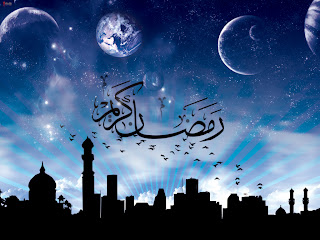 Ramadan Moon and mosque Wallpaper