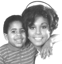Diahann Carroll 1935 - ) &amp; TV Son, Marc Copage 
