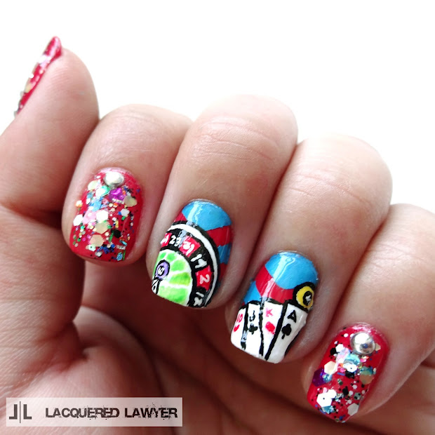 lacquered lawyer nail art