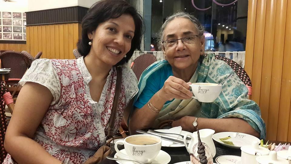 Ma and I