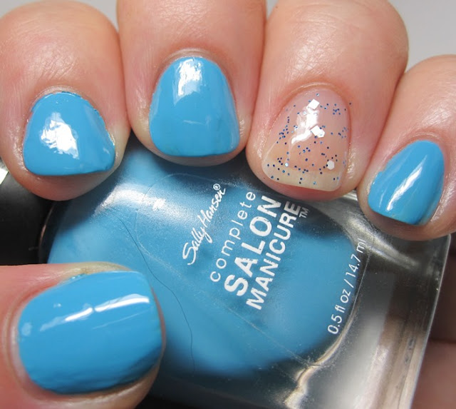 Sally Hansen's The Sky's the Limit with accent of EDC Princess