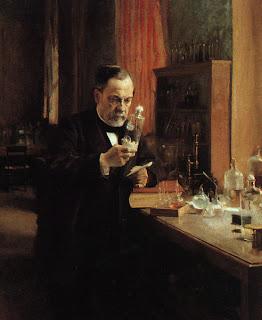 Imagen de Louis Pasteur trabajando en su laboratorio