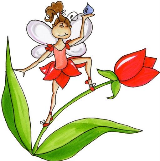 Dibujos de hadas y flores - Imagenes y dibujos para imprimir