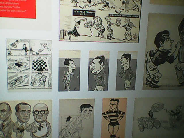BENFICA MUSEUM IN LISBON...CARTOONING FOR..FOOTBALL