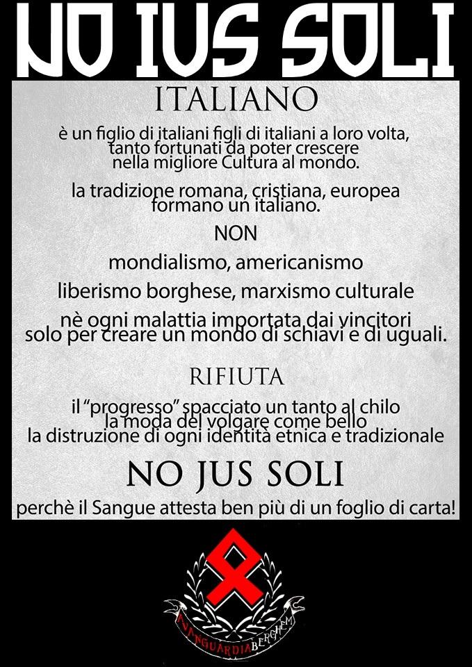 Avanguardia nazionale bergamo no ius soli for Repubblica politica