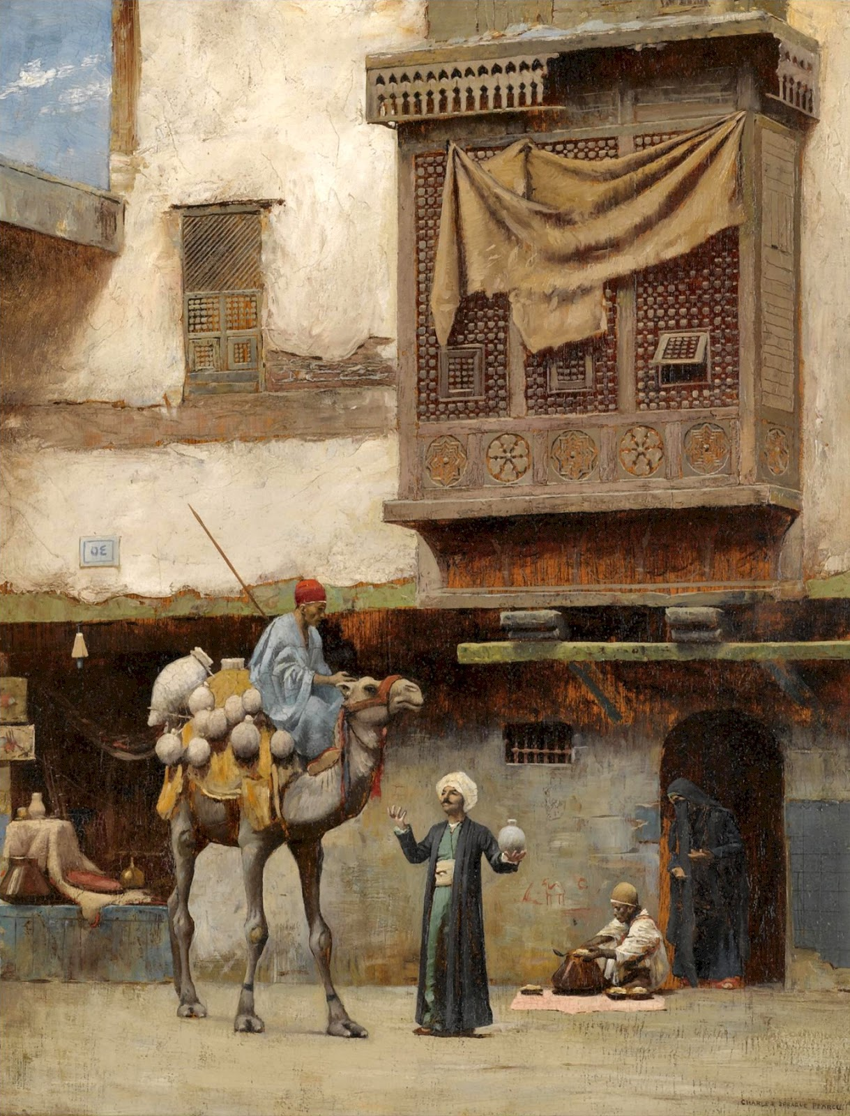 Charles  Sprague  Pearce  pottery  seller  in  the  old  city  of  cairo