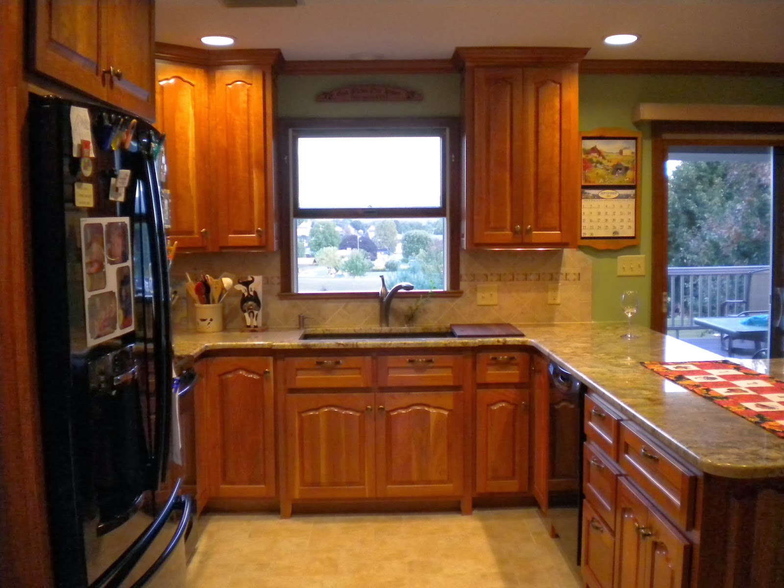 Tile Flooring to Match Cherry Cabinets