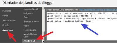 Editar los estilos CSS de Blogger