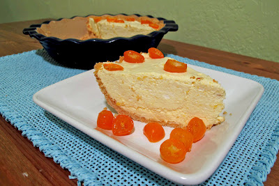 Candied Kumquat Passion Fruit Chiffon Pie