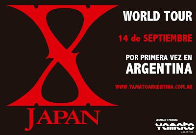 X JAPAN en argentina Yamato Argentina
