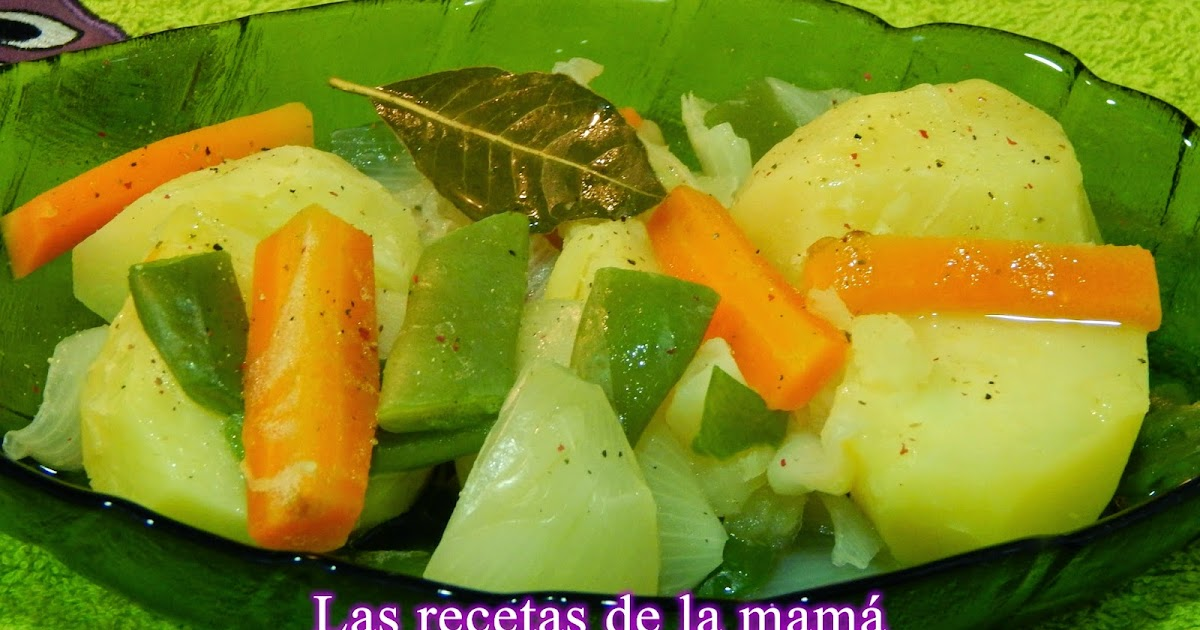 Las recetas de la mam receta ligera de verduras cocidas - Superchef cf100 ...