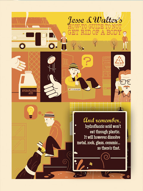 Breaking Gifs Limited Edition Breaking Bad Screen Prints - Emilio's Disposal by Dave Perillo