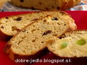 Tvarohový chlebík s mandľami - recept