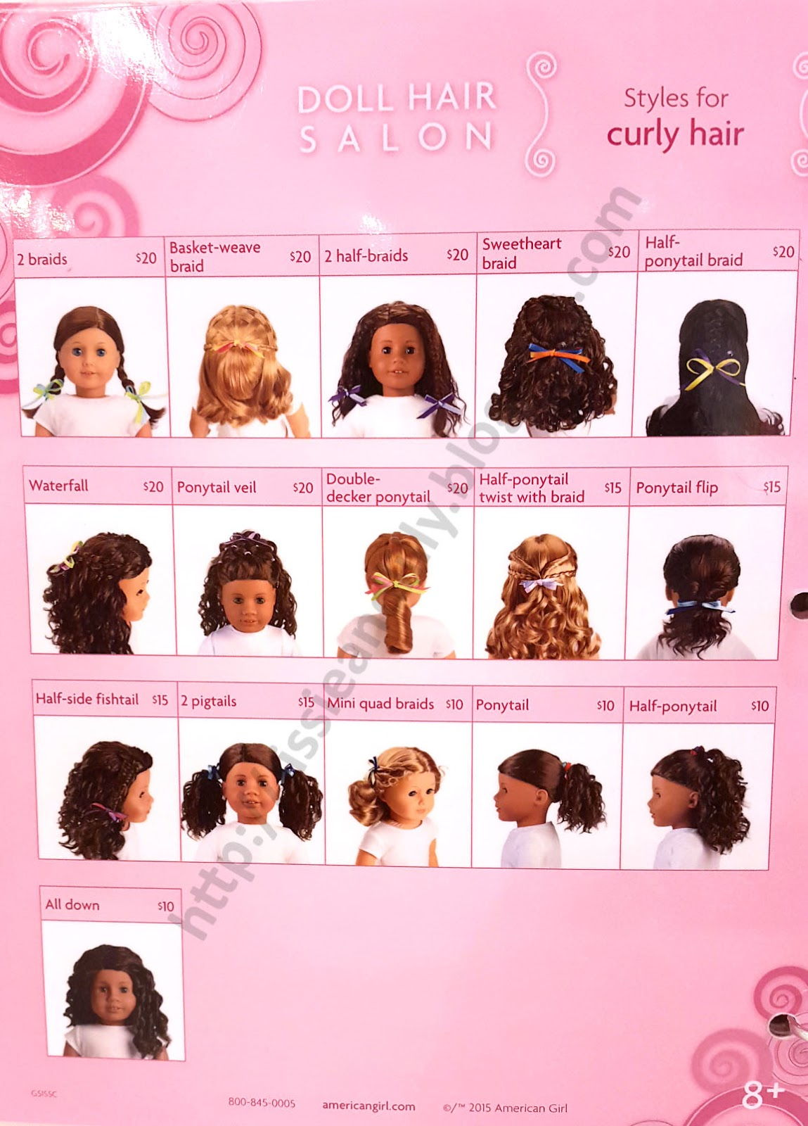 American Girl Doll Disney Hairstyles : Lissie lilly ag salon hairstyles