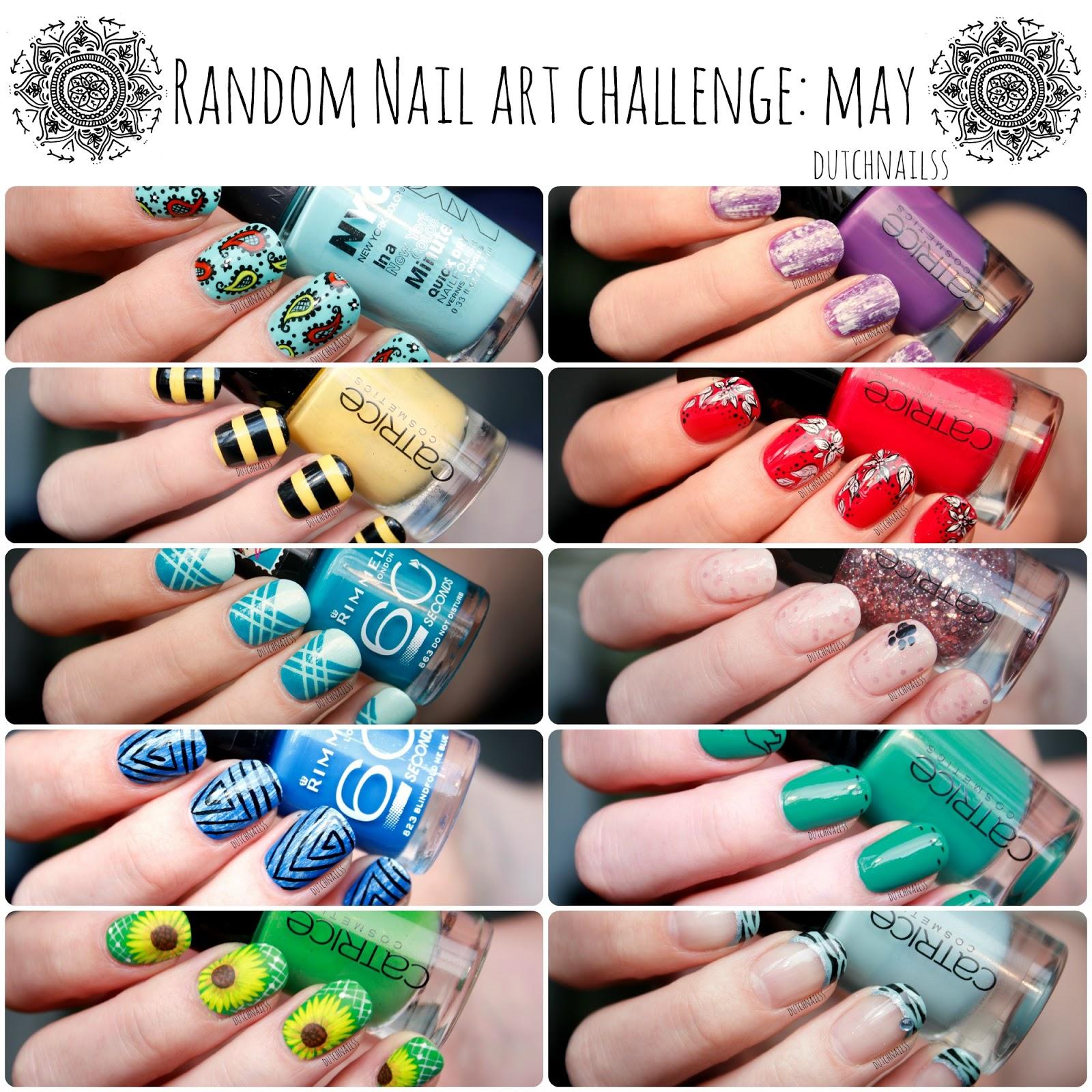 Dutchnailss Random Nail Art Challenge May Completed