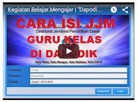 Video Tutorial Cara Mengisi JJM Guru Kelas dan Kepala Sekolah Dapodik Linier