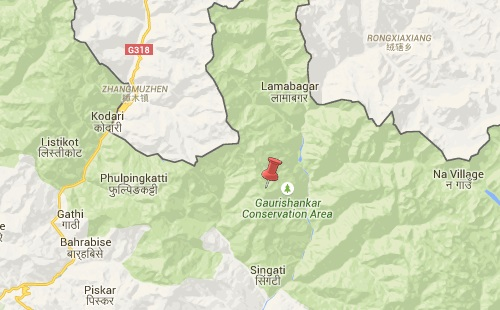 dolakha earthquake epicenter map