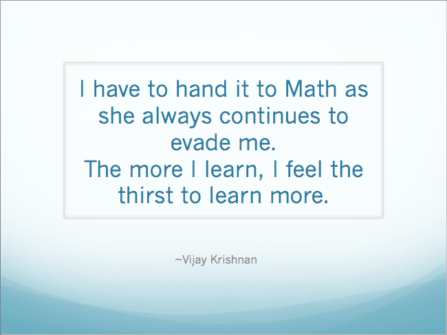mathematically forever in my heart my first tryst with