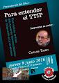 """Presentación Libro """" Para entender el TTIP"""" de Carlos Taibo"""