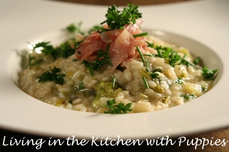 Living in the Kitchen with Puppies: Lemony Herb and Broccoli Risotto